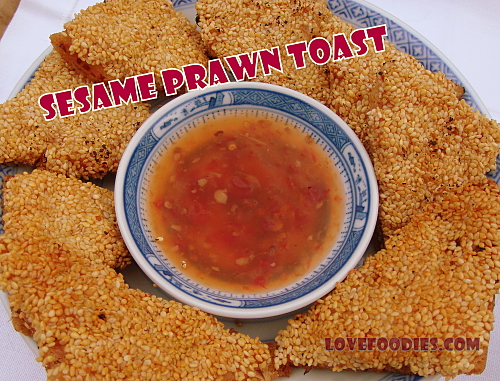 Sesame Prawn Shrimp Toasts