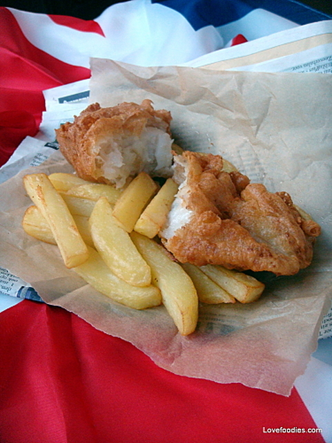 British Beer Battered Fish n Chips