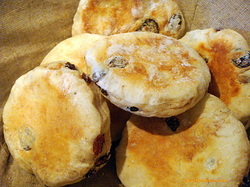 Cinnamon and Raisin English Muffins
