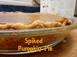 Spiked pumpkin pie