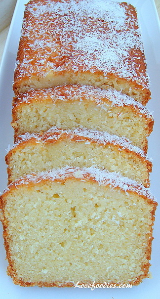 moist coconut loaf pound cake