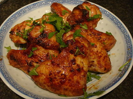 sticky sweet Chinese chicken wings