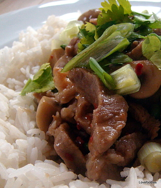 Quick Pork & Mushroom Stir Fry. #pork #Chinese #stirfry