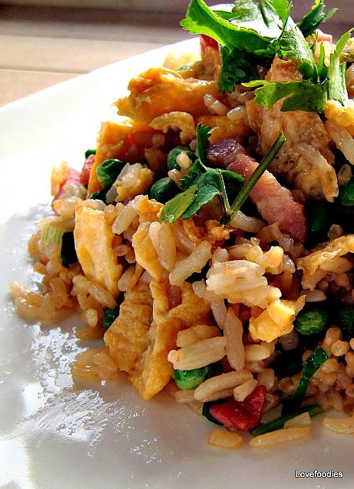 Speedy Ham & Egg Fried Rice