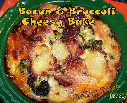 bacon & broccoli cheeesy bake