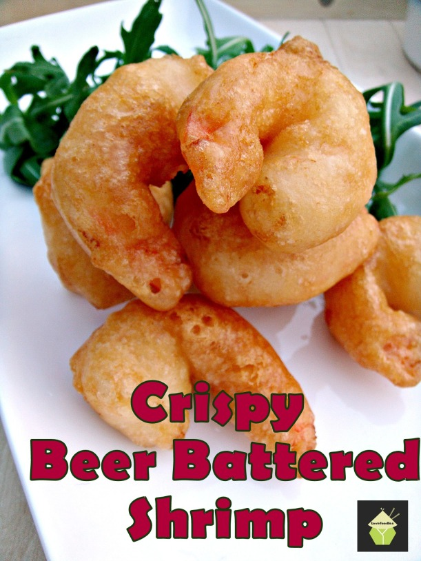 Crispy Beer Battered Prawns shrimp