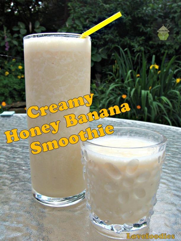 Creamy Banana Honey Smoothie