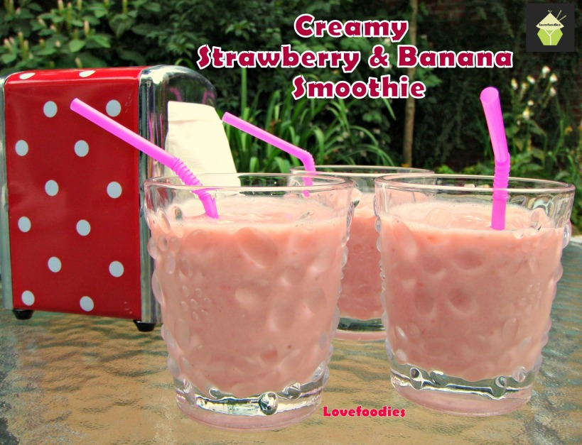 Creamy Strawberry and Banana Smoothie