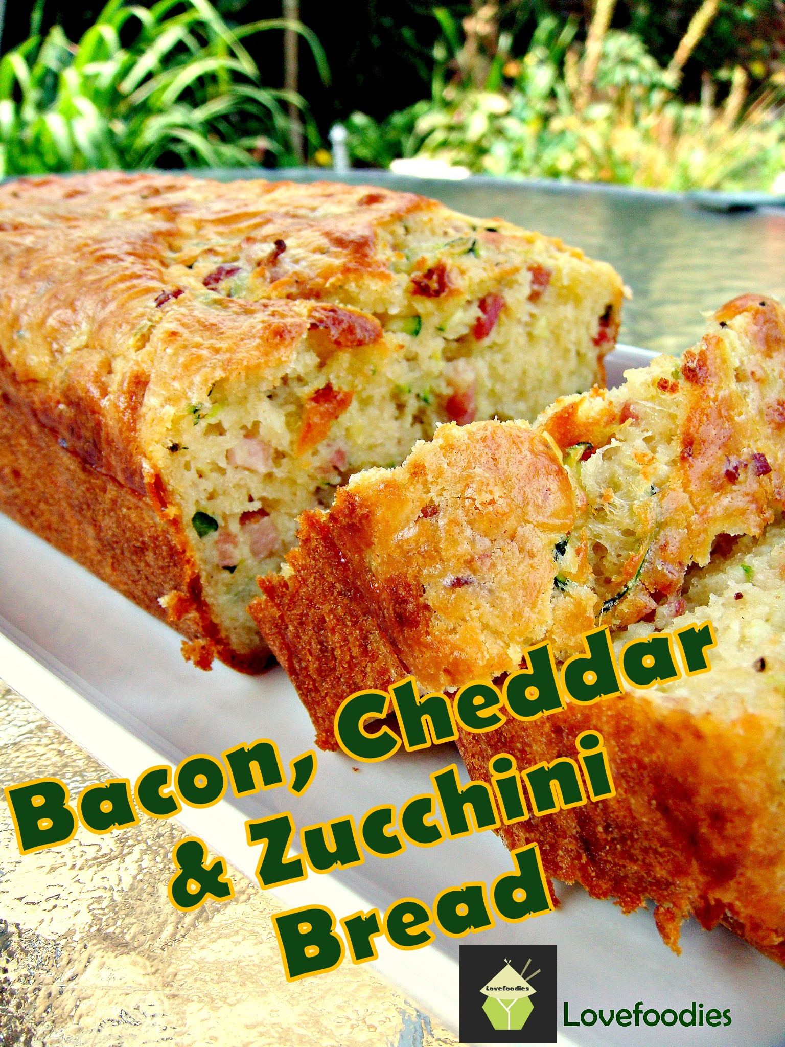 Bacon, Cheddar & Zucchini Loaf. Soft, Fluffy, moist and perfectly ...