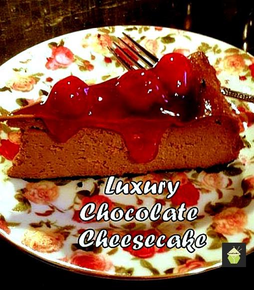 Luxury choc cheesecake