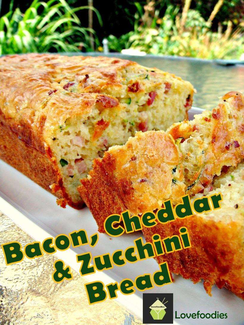 Bacon,cheddar zucchini bread
