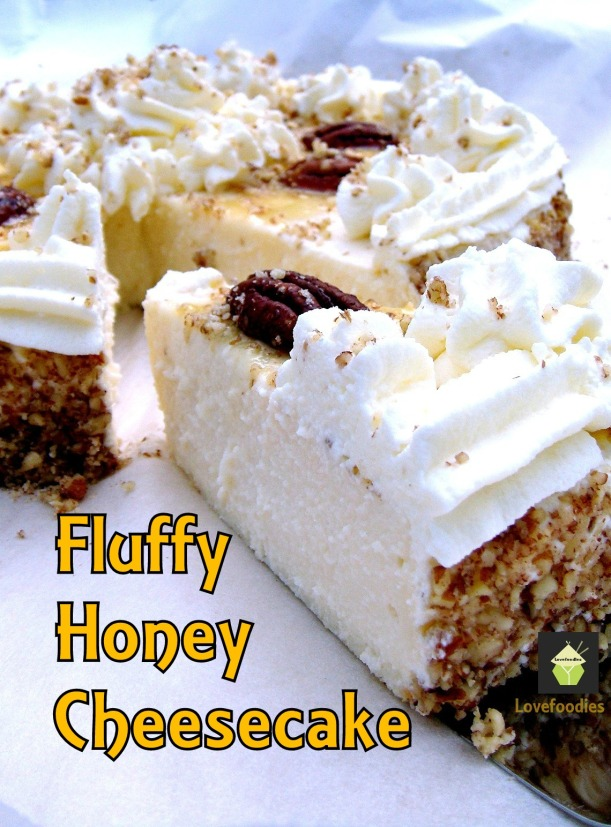 Fluffy Honey Cheesecake