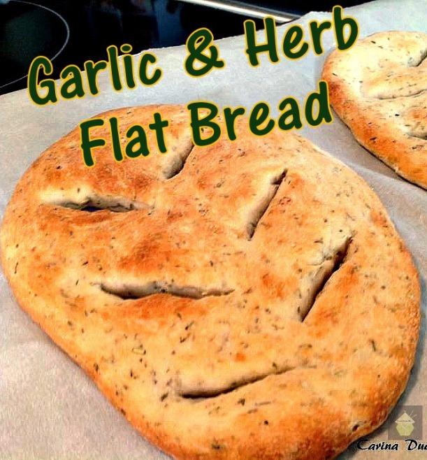 Garlic, Herb Flat Bread
