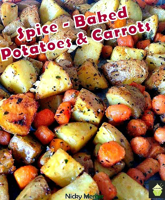Spiced - Oven Baked Potatoes and Baby Carrots