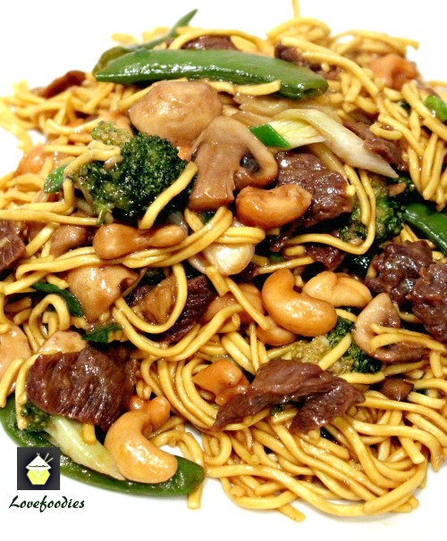 Beef and Vegetable Lo Mein